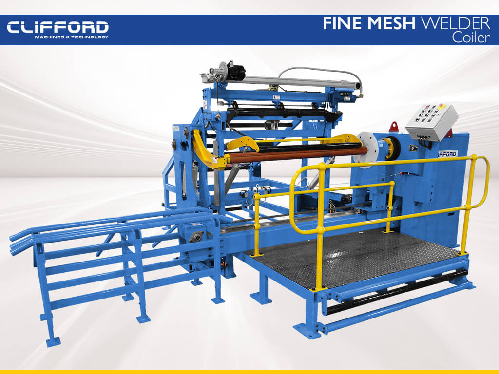 Mesh Coiling machine for rolled mesh