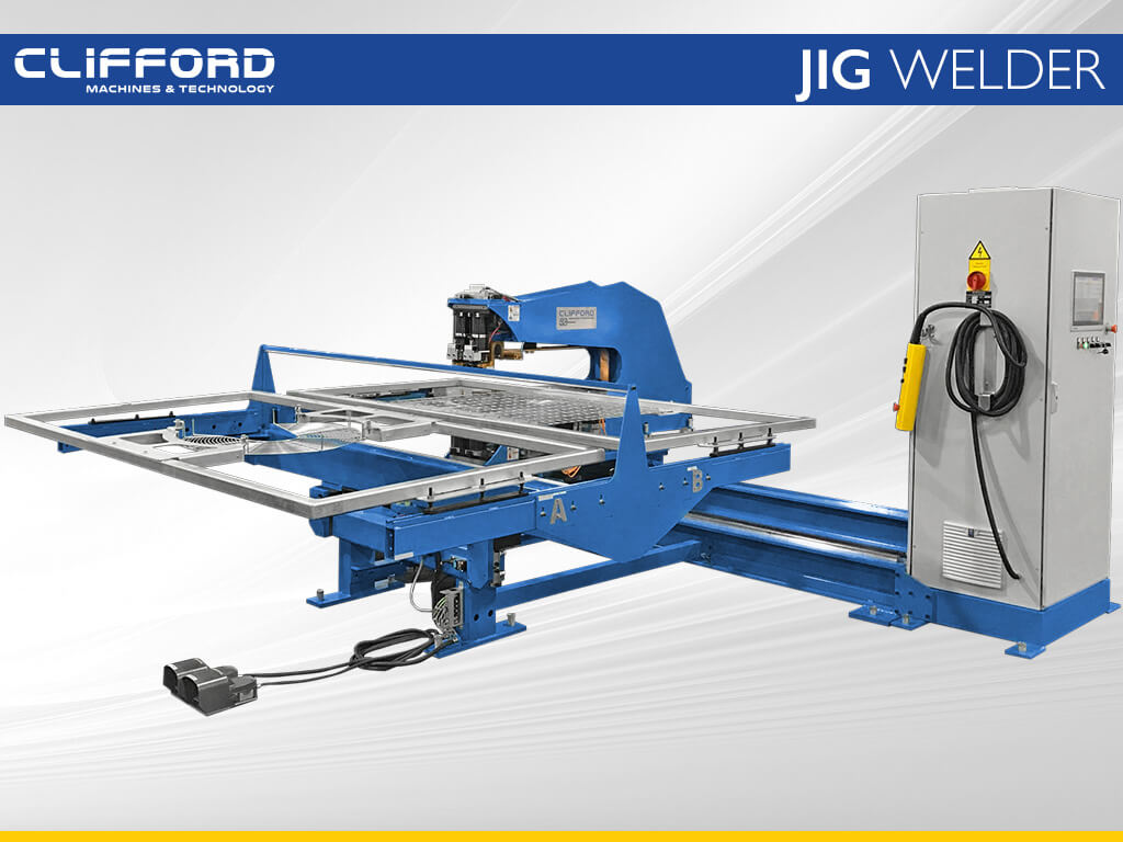 Overview Jig Welder welding two different products simultaneously