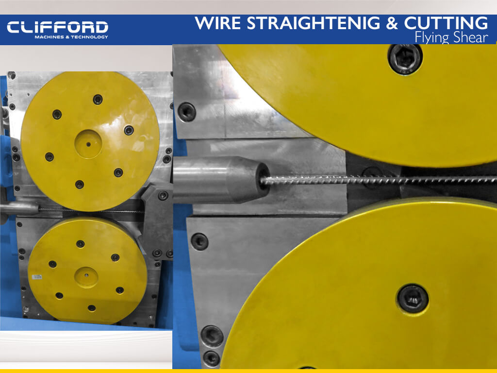 Wire straightening and cut to length machine - Flying Shear