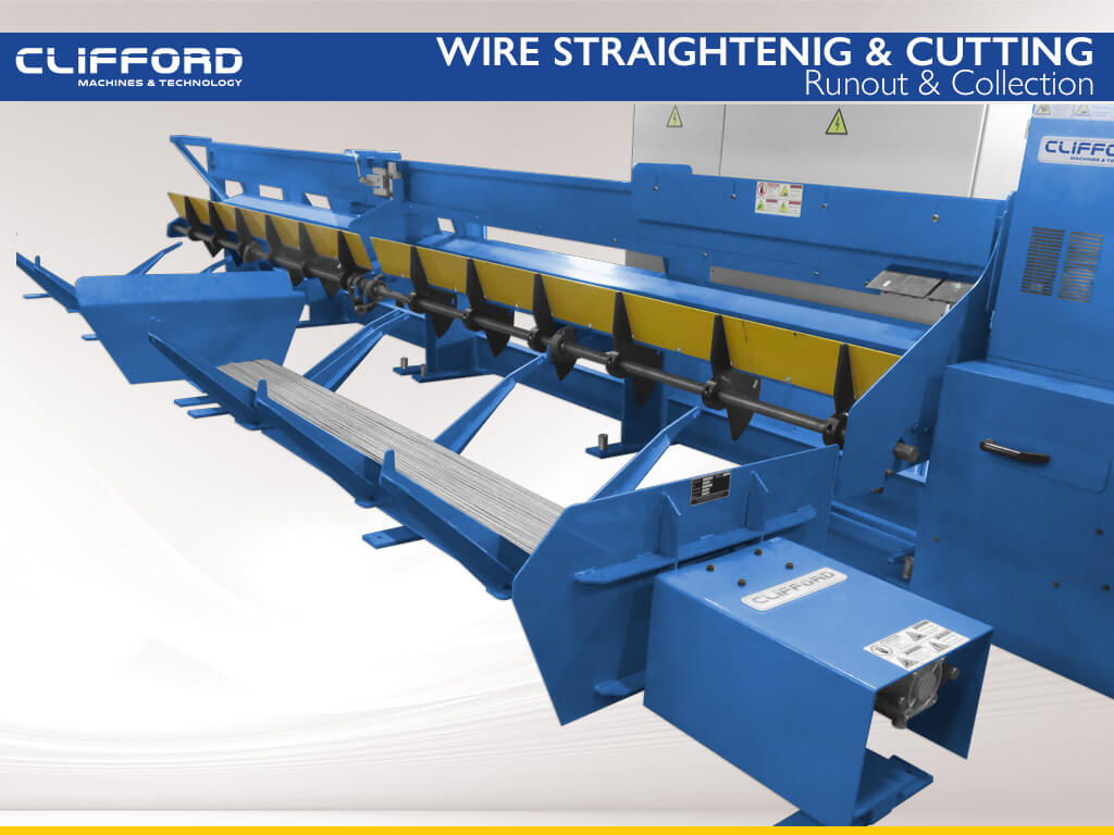 Wire straightening and cut to length machine - Runout & Collection