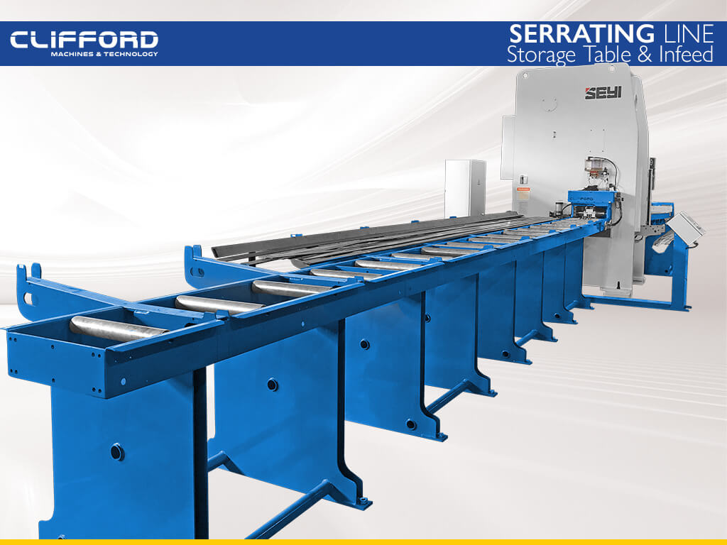Serrating Line Storage Table & Infeed