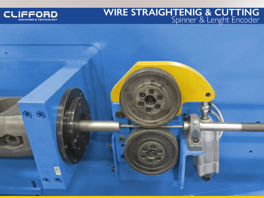 Wire straightening and cut to length machine - Spinner & Length Encoder