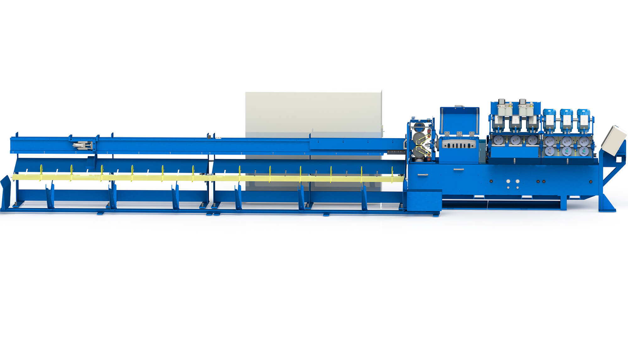 Wire straightening and cut to length machine (OPTICUT)